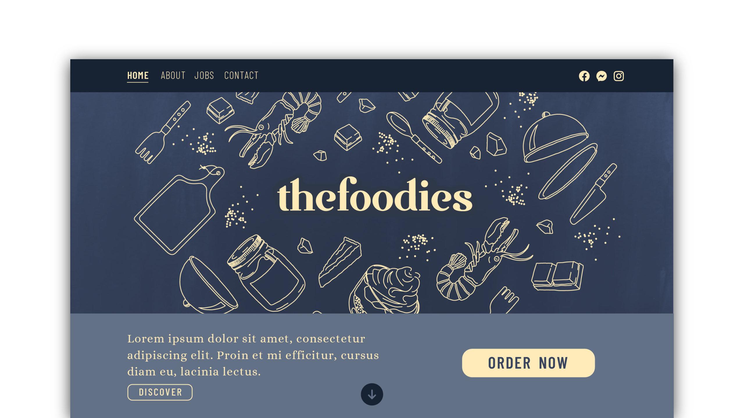 Site internet Foodies Claire Lacroix